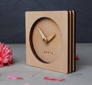 Personalized wood clock